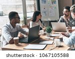 successful business team. group ... | Shutterstock . vector #1067105588