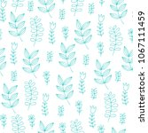 seamless hand drawn pattern.... | Shutterstock .eps vector #1067111459