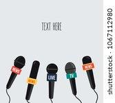 breaking news vector on tv and... | Shutterstock .eps vector #1067112980