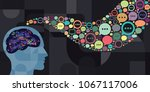 vector illustration of brain... | Shutterstock .eps vector #1067117006