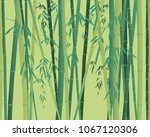bamboo plant seamless texture... | Shutterstock .eps vector #1067120306