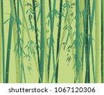 bamboo plant seamless texture... | Shutterstock .eps vector #1067120306