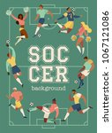 football soccer players and... | Shutterstock .eps vector #1067121086
