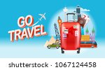 vacation travelling concept. go ... | Shutterstock .eps vector #1067124458