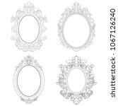 set of oval frames. oval frames ... | Shutterstock .eps vector #1067126240