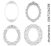 set of oval frames. oval frames ... | Shutterstock .eps vector #1067126258