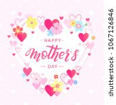 happy mothers day typography... | Shutterstock .eps vector #1067126846