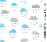 seamless vector watercolor... | Shutterstock .eps vector #1067143016