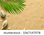 summer background with green... | Shutterstock . vector #1067147078