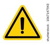 Black Hazard Warning Icon....