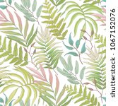 seamless floral pattern with... | Shutterstock .eps vector #1067152076