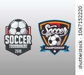 soccer badge  football logo...   Shutterstock .eps vector #1067152220