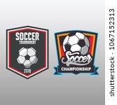 soccer badge  football logo...   Shutterstock .eps vector #1067152313
