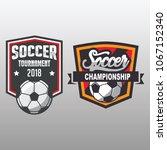 soccer badge  football logo... | Shutterstock .eps vector #1067152340