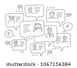 chat messages internet... | Shutterstock .eps vector #1067156384