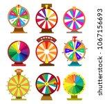 fortune wheel icons. vector... | Shutterstock .eps vector #1067156693