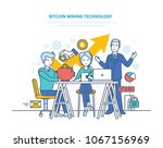 bitcoin mining technology ... | Shutterstock .eps vector #1067156969