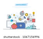 crypto currency  cryptography ...   Shutterstock .eps vector #1067156996