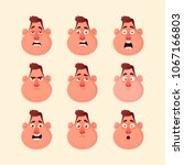 funny character's emotions.... | Shutterstock .eps vector #1067166803