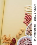 chinese health soup ingredients ...   Shutterstock . vector #1067173304