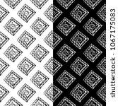 black and white geometric... | Shutterstock .eps vector #1067175083