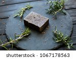 spa products with soap. oil... | Shutterstock . vector #1067178563