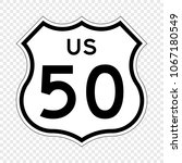 united states highway shield.... | Shutterstock .eps vector #1067180549