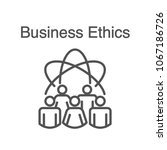 business ethics solid icon w... | Shutterstock .eps vector #1067186726