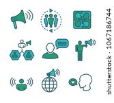 spokesperson icon set w... | Shutterstock .eps vector #1067186744