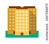 multi storey building flat... | Shutterstock .eps vector #1067186873