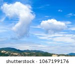 blue sky with blue sea... | Shutterstock . vector #1067199176