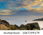blue sky with blue sea... | Shutterstock . vector #1067199179