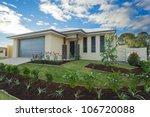 new suburban australian... | Shutterstock . vector #106720088