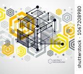 modern isometric vector... | Shutterstock .eps vector #1067208980