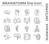 set of icons  brainstorm. | Shutterstock . vector #1067219003