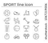 set of sport icon | Shutterstock . vector #1067219006
