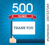 500 followers in social... | Shutterstock .eps vector #1067237264
