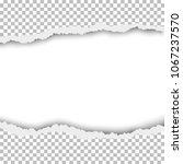 torn hole in transparent sheet... | Shutterstock .eps vector #1067237570