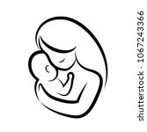mother and baby stylized vector ... | Shutterstock .eps vector #1067243366