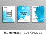 abstract elegant blue business... | Shutterstock .eps vector #1067243783