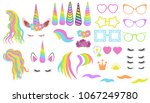 create your own unicorn   big... | Shutterstock .eps vector #1067249780