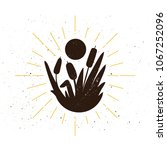 retro reed silhouette logo.... | Shutterstock .eps vector #1067252096