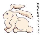 rabbit profile character vector ... | Shutterstock .eps vector #1067256959