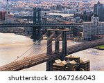 aerial view on lower manhattan  ... | Shutterstock . vector #1067266043