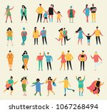 vector illustration in a flat... | Shutterstock .eps vector #1067268494