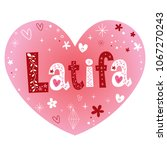 latifa a feminine arabic given...   Shutterstock .eps vector #1067270243