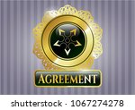 gold badge or emblem with gold ... | Shutterstock .eps vector #1067274278