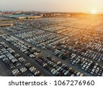 aerial view a lot of car for...   Shutterstock . vector #1067276960