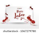 illustration for labor day | Shutterstock .eps vector #1067279780