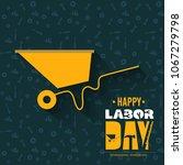 illustration for labor day | Shutterstock .eps vector #1067279798